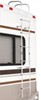 "Surco Universal Exterior RV Ladder w Center Hinges for Contoured Rear Wall - 97"" Long - 250 lbs 97 Inch Tall SP501L"