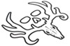 Bone Collector Logo Flat Decal - White - Qty 1 Hunting and Fishing SPGADE1204