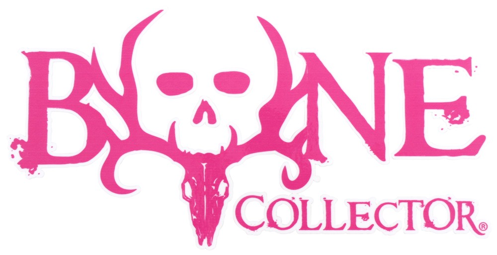 Bone Collector Logo Flat Decal - Pink - Qty 1 Bone Collector SPGADE1207