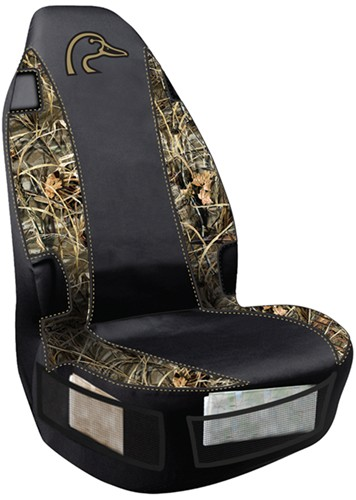 Ducks Unlimited Universal Fit Bucket Seat Cover Polyester Realtree Max 4 Camo And Black
