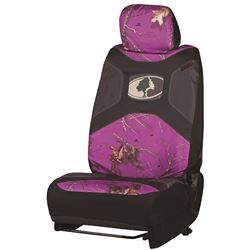 Mossy Oak Universal Fit Low Back Bucket Seat Cover - Polyester - New Break-Up Camo - Purple - Qty 1