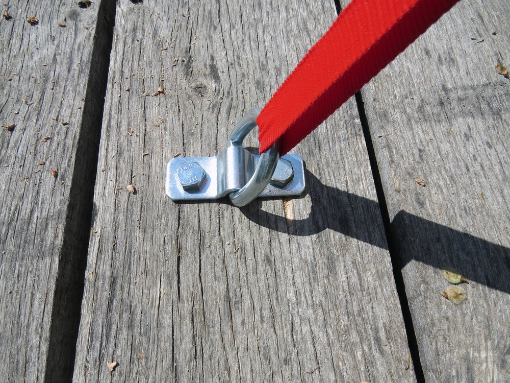 Bolt On Tie Downs : Brophy d ring tie down anchor bolt on quot wide