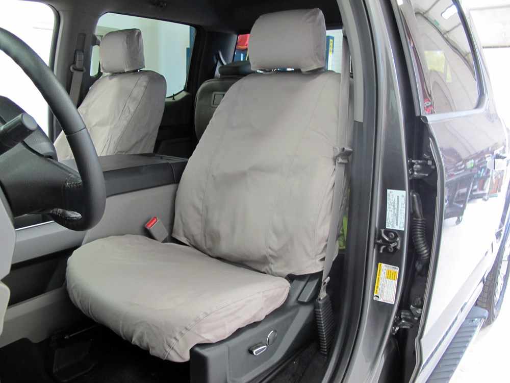 seat covers ford 150 custom front covercraft installed misty seatsaver gray