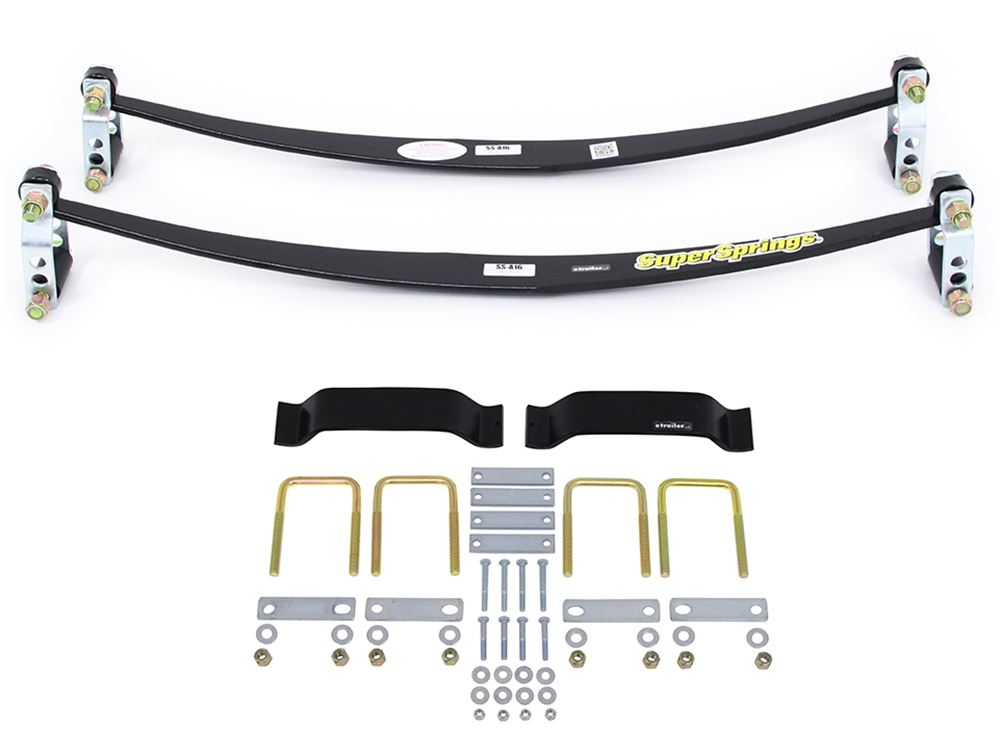 SuperSprings Custom Suspension Stabilizer and Sway Control Kit - Factory Leaf Springs Above Axle Constant Load SSA16MXKT