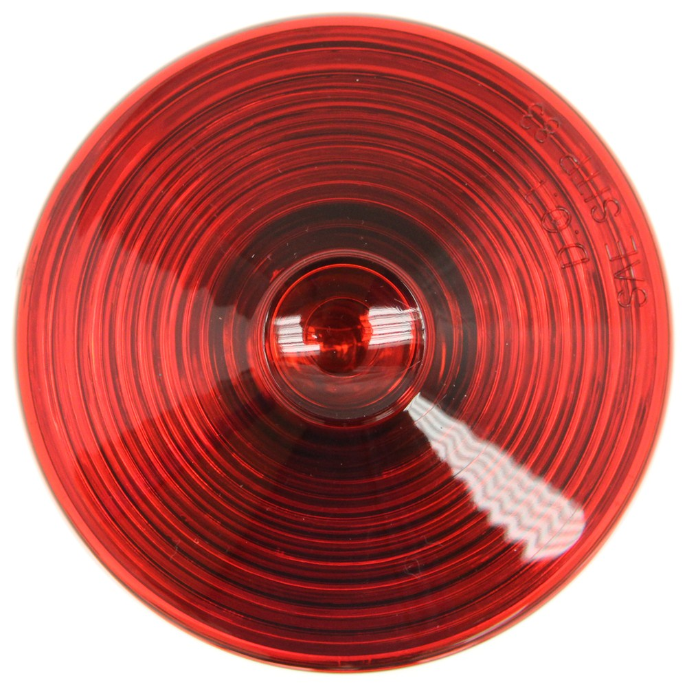Trailer Tail Light - Stop  Turn  Tail - Incandescent - Round - Red Lens