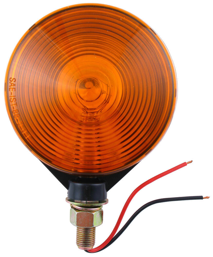 Dual Face Trailer Parking Turn Signal Light Post Mount 4 Round Tail Wiring Diagram Moreover Oval Led Lights Amber Optronics St52aa