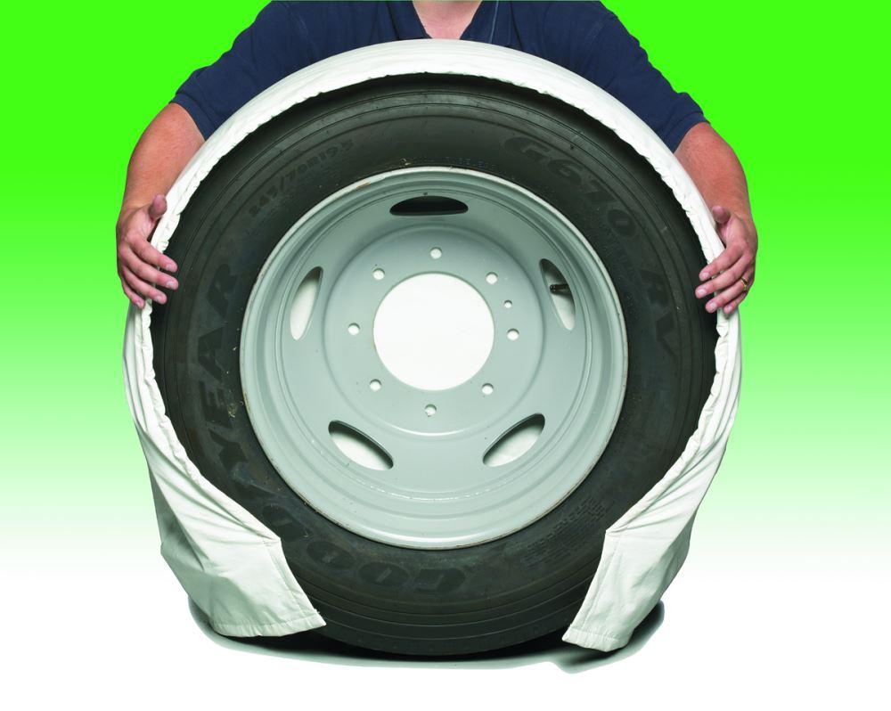 "Best All Season Tires >> SnapRing TireSavers Tire Covers - 24"" to 26"" Diameter - White Vinyl - Qty 2 Covercraft RV Covers ..."