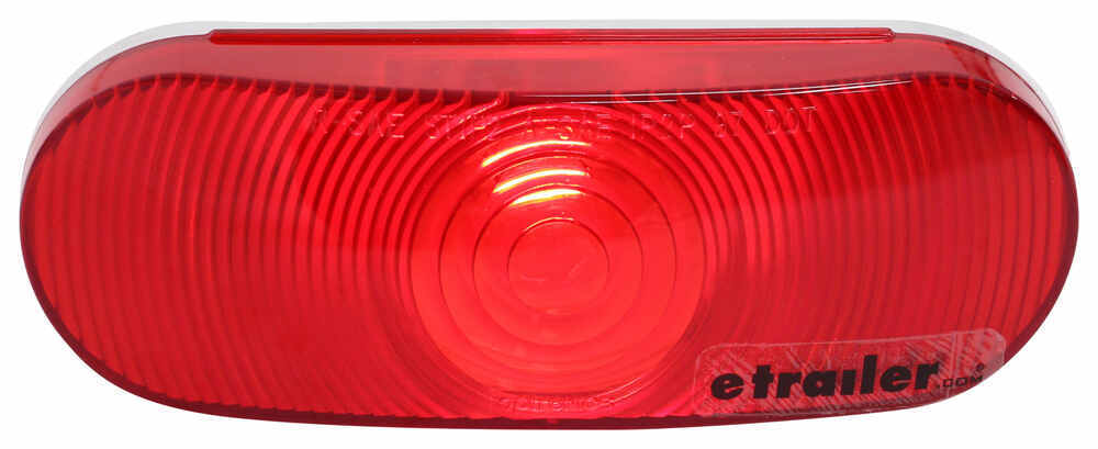 optronics trailer tail light - stop, turn, tail - submersible -  incandescent - oval - red lens optronics trailer lights st70rb