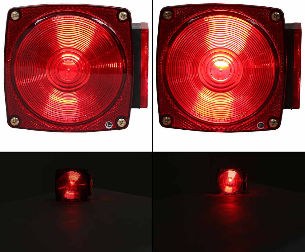 LOT OF 2 ARROW TAIL LIGHTS COMPLETE UNIT WITH 1156 BULB SINGLE WIRE W//GASKET