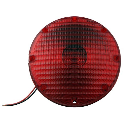 Quot round transit stop and tail light red optronics