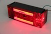 GLOLight LED Combination Trailer Tail Light - 6 Function - Submersible - 28 Diodes - Passenger Side 8L x 3W Inch STL116RB