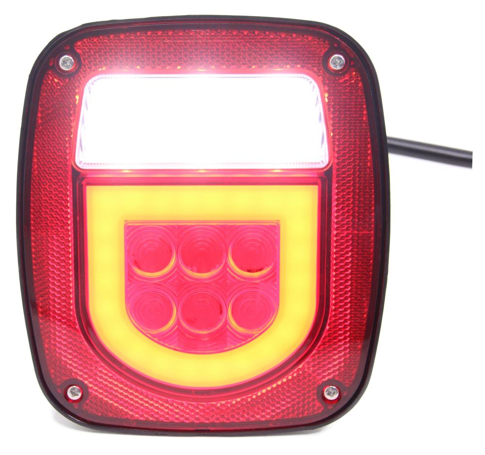 Optronics Square Trailer Lights - STL161RB