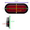 GloLight LED Trailer Tail Light - Stop, Tail, Turn - Submersible - 22 Diodes - Oval - Red Lens LED Light STL178RB