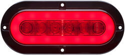 GloLight LED Trailer Tail Light - Stop, Tail, Turn - Submersible - 22 Diodes - Oval - Red Lens
