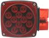 LED Combination Trailer Tail Light - Submersible - 7 Function - 18 Diodes - Square - Passenger Side LED Light STL2RB