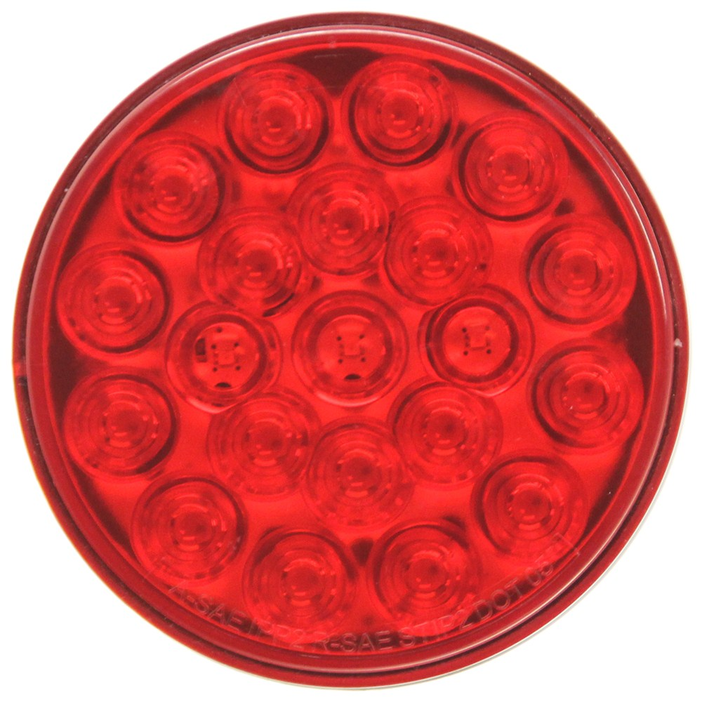 Optronics LED Trailer Tail Light - Stop, Tail, Turn - Submersible - 21 Diodes - Round - Red Lens 4 Inch Diameter STL55RB