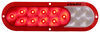 Fusion LED Trailer Tail Light - Stop, Tail, Turn, Backup - Submersible - Oval - Red/Clear Lens