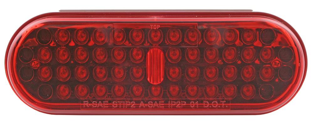 Optronics LED Trailer Tail Light - Stop, Tail, Turn - Submersible - 48 Diodes - Oval - Red Lens Submersible Lights STL70RB
