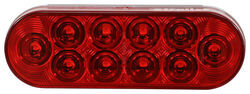 Optronics LED Trailer Tail light - Stop, Tail, Turn - Submersible - 10 Diodes - Red Lens