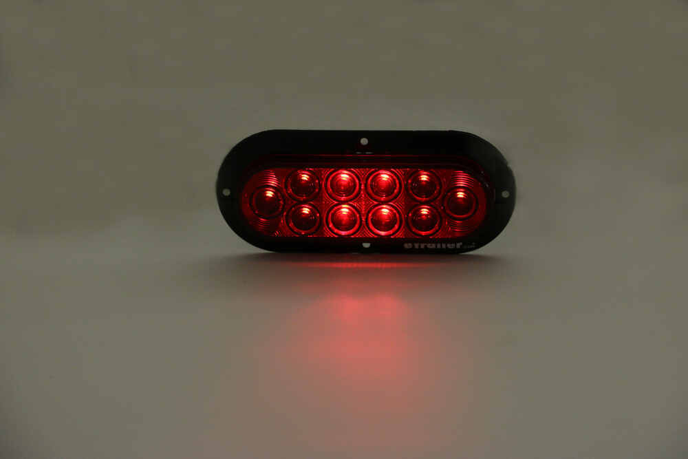 optronics led trailer tail light - stop, turn, tail - submersible - 10  diode - oval - red lens optronics trailer lights stl78rb