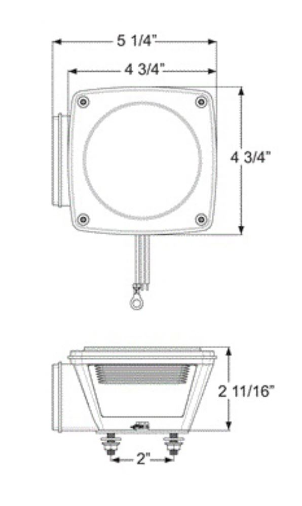 optronics stl series led 6-function tail light - stud mount - waterproof