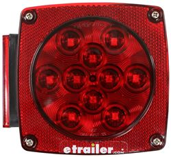 Trailer Tail Light - 7-Function - LED - Submersible - 14 Diodes - Red Lens - Driver