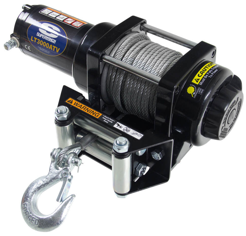 Superwinch LT3000 ATV Winch - Wire Rope - Roller Fairlead - 3,000 lbs  Superwinch Electric Winch SW1130220
