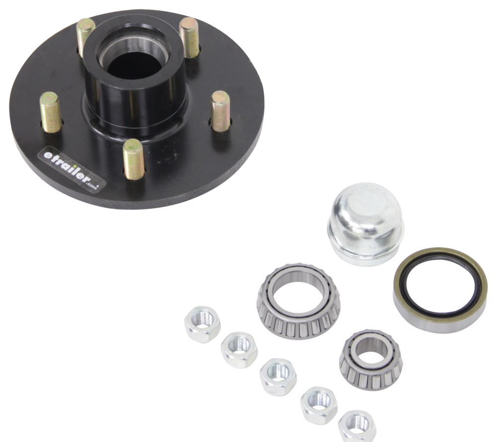 Trailer Hub Assembly For 2 500 Lb Axles 5 On 4 1 2