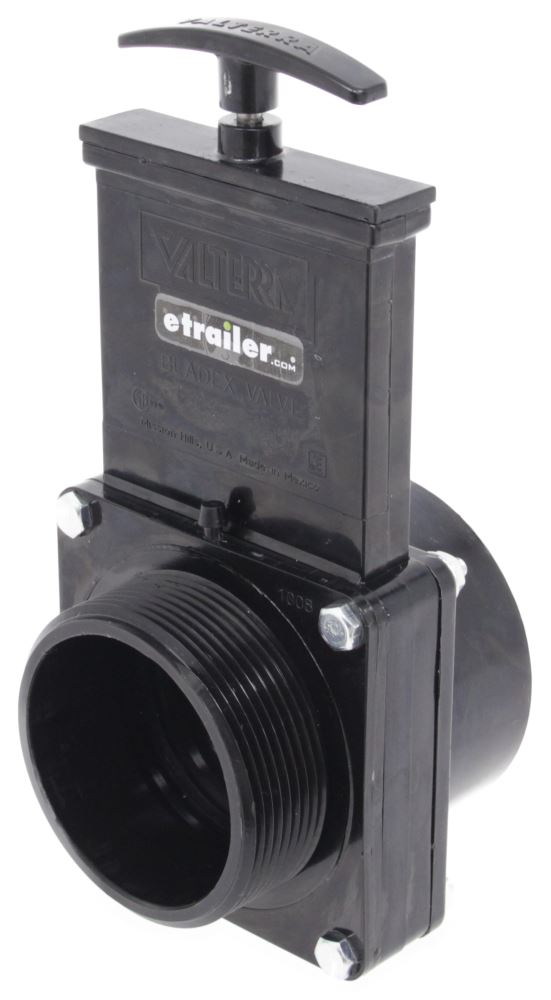 "Valterra Bladex Waste Valve for RV Black Water Tank - 3"" Hub to 3"" MPT 3 In Hub x 3 In MPT T40C"