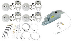 Titan Disc Brake Kit and Leverlock Actuator w/ Electric Lockout - Tandem, 3,500-lb Axle - T4843200