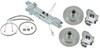 Titan Disc Brake Kit and Swing-Away Actuator w/ Electric Lockout - Single, 3,500-lb Axle