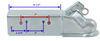 T4853100 - 21000 lbs GTW Titan Straight Tongue Trailer Coupler