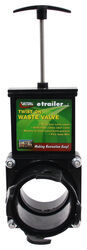 "Valterra Waste Valve for RV Black Water Tank - Twist On - 3"" Bayonet Hooks to 3"" Lug"