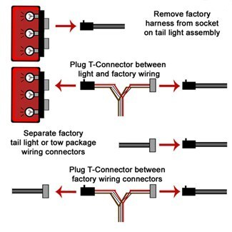 Tail Light T Connector Diagram