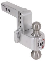"180 Hitch 2-Ball Mount w/ Stainless Steel Balls - 2"" Hitch - 4"" Drop, 5"" Rise - 10K"