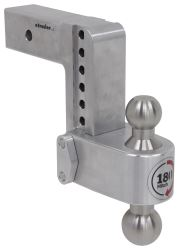 "180 Hitch 2-Ball Mount w/ Stainless Balls - 2-1/2"" Hitch - 6"" Drop, 7"" Rise - 14.5K"