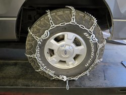 Titan Chain Snow Tire Chains w/ Cams for Wide Base Tires - Ladder Pattern - V-Bar Link - 1 Pair