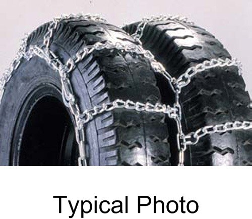 Titan Chain Snow Tire Chains w/ Cams for Dual Tires - Ladder Pattern -  Twist Link - 1 Axle Set