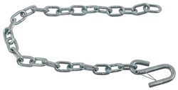 "30"" Long Safety Chain with 1/4"" S-Hook with Latch - 5,000 lbs - Qty 1"