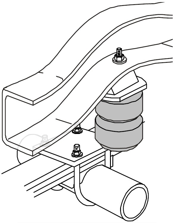 1973 ford van timbren rear suspension enhancement system