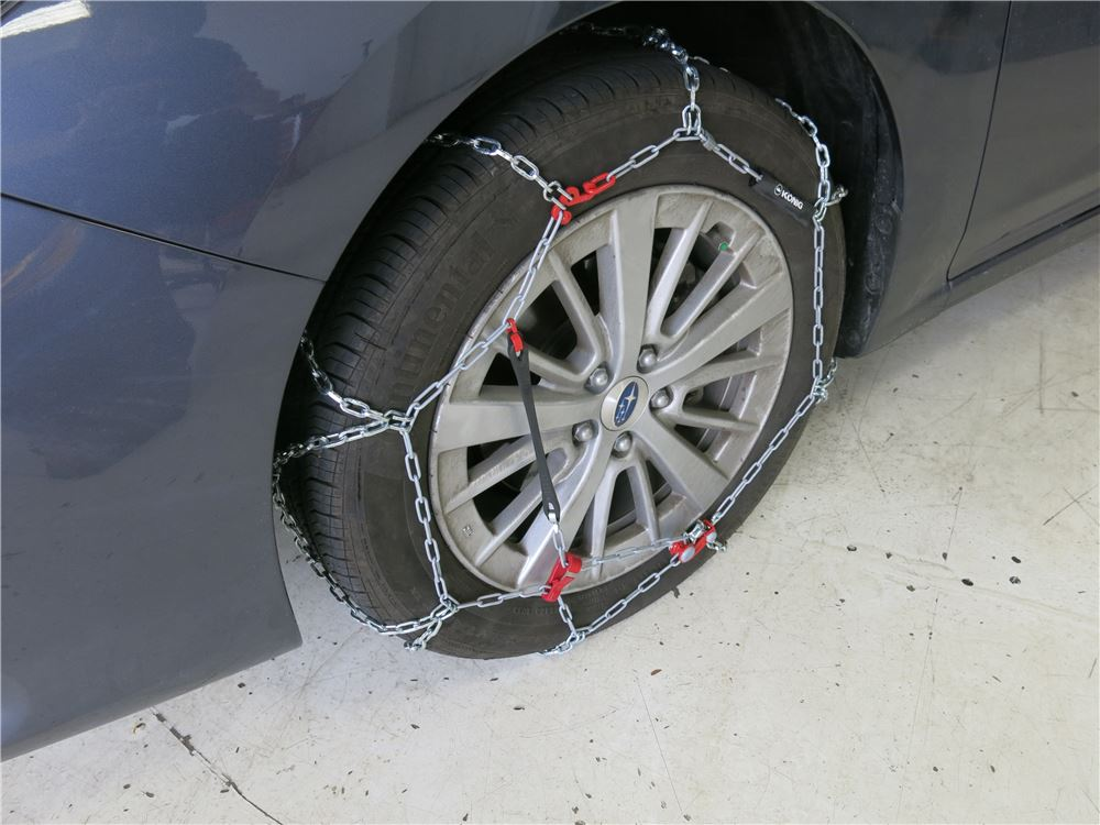 2010 kia soul konig standard snow tire chains diamond for Mercedes benz snow chains