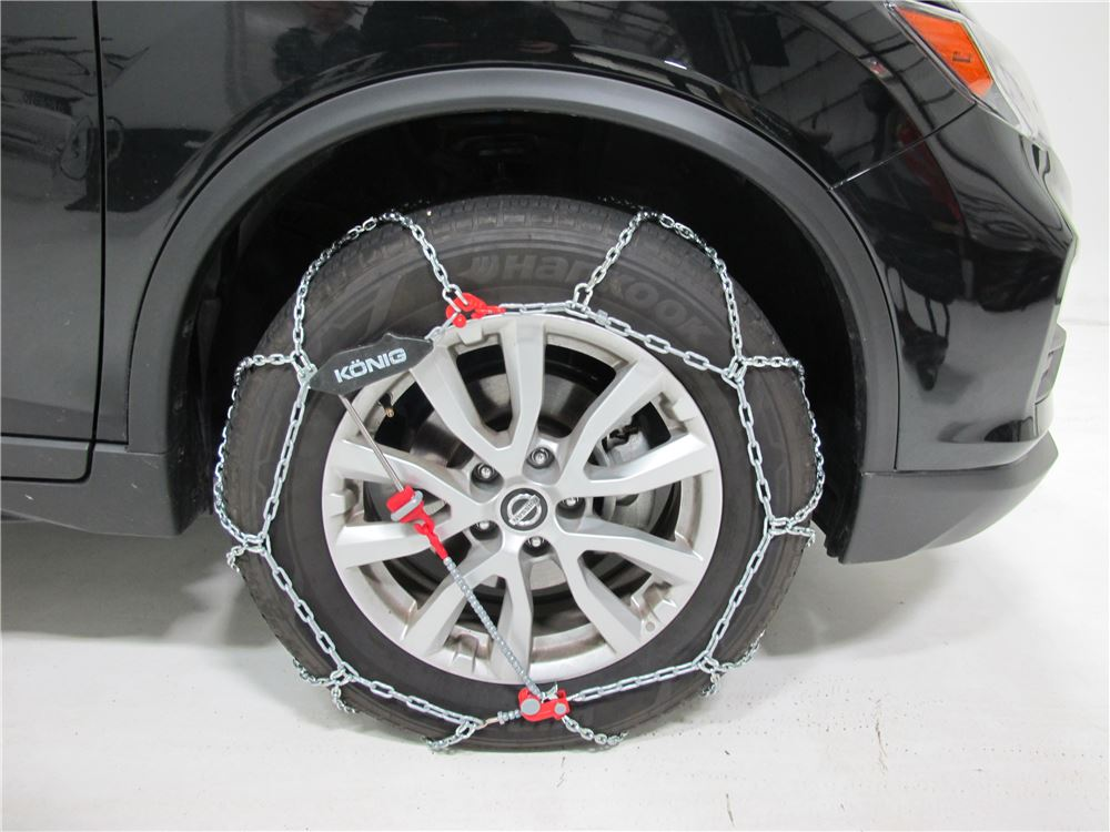 2015 nissan rogue konig self tensioning snow tire chains diamond pattern d link xg12 pro. Black Bedroom Furniture Sets. Home Design Ideas