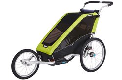 Thule Chariot Cheetah XT Bike Trailer, Stroller, and Jogger - 1 Child - Green