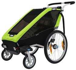 Thule Chariot Cheetah XT Bike Trailer and Stroller - 1 Child - Green