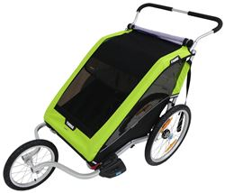 Thule Chariot Cheetah XT Bike Trailer, Stroller, and Jogger - 2 Child - Green