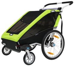 Thule Chariot Cheetah XT Bike Trailer and Stroller - 2 Child - Green
