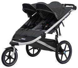 Thule Urban Glide Stroller and Jogger - 2 Child - Gray