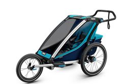 Thule Chariot Cross Bike Trailer, Stroller, and Jogger - 1 Child - Blue