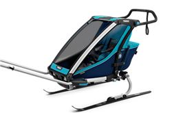 Thule Chariot Cross Bike Trailer, Hike/Ski Trailer, and Stroller - 1 Child - Blue