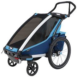 Thule Chariot Cross Bike Trailer and Stroller - 1 Child - Blue